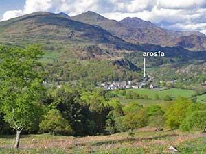 beddgelert and snowdon in snowdonia