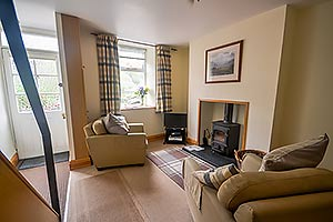 lounge of this cottage in beddgelert