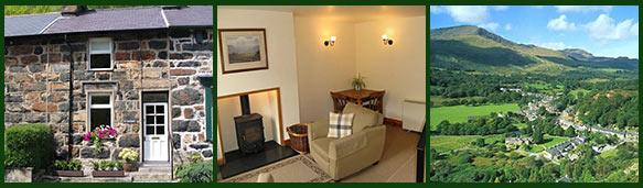 photos of holiday cottage and beddgelert
