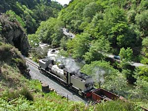 welsh highland railway near beddgelert
